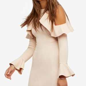 Free People-Cold shoulder ruffle dress